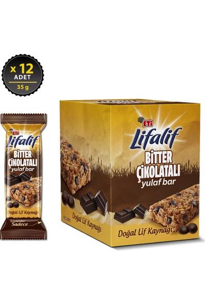 Eti Lifalif Bitter Çikolatalı Yulaf Bar 35 g x 12 Adet