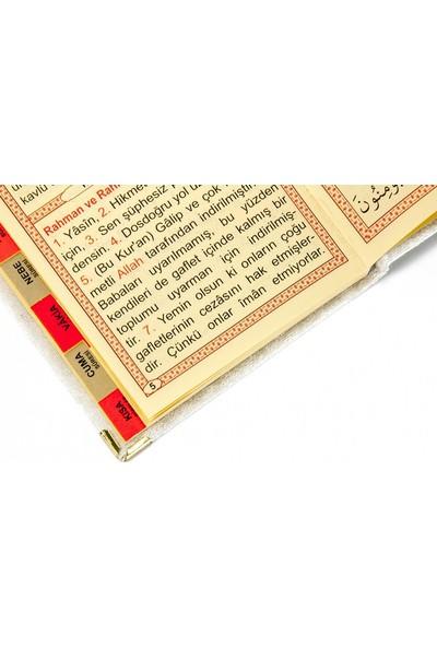 İhvan 20 Adet Kadife Kaplı Yasin Kitabı - Tül Keseli - İsme Özel Plakalı - Tesbihli - Beyaz