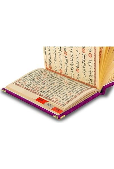 İhvan 20 Adet Özel Hediyelik Karton Kutulu - Özel İsimli Kadife Kaplı Yasin Kitabı - Mor -1241