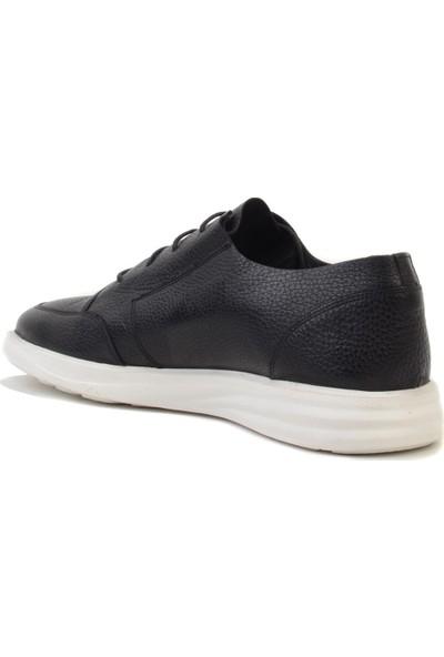 James Franco - Siyah Deri Erkek Günlük Ayakkabı