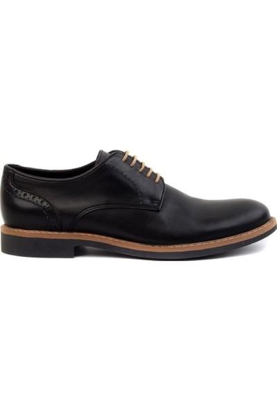 Freefoot - Siyah Deri Erkek Klasik Ayakkabı