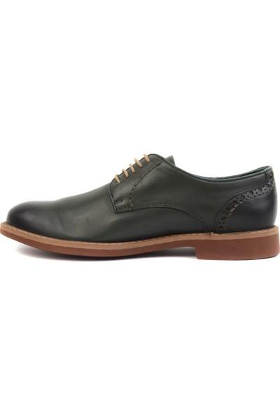 Freefoot - Yeşil Deri Erkek Klasik Ayakkabı