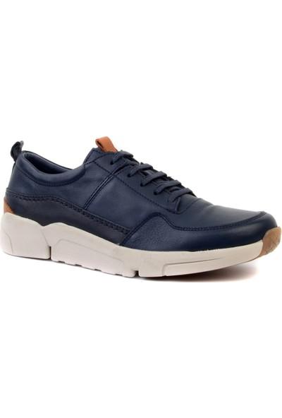Freefoot - Lacivert Deri Erkek Günlük Ayakkabı