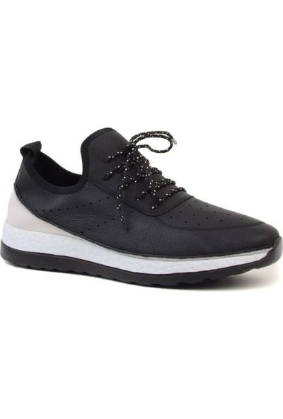James Franco - Siyah Deri Erkek Spor Ayakkabı