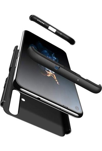 Gpack Samsung Galaxy Note 10 Lite Kılıf Ays 3 Parçalı + Nano Glass Bordo