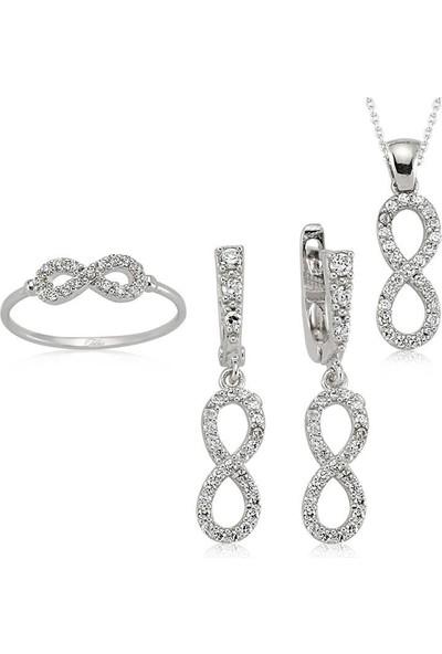 Beyazıt Takı Gümüş Sonsuzluk Kadın Set