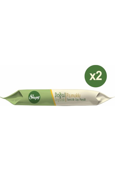Sleepy Doğal Organik Pamuklu Cep Mendili 10 x 15'li (2 Kutu)