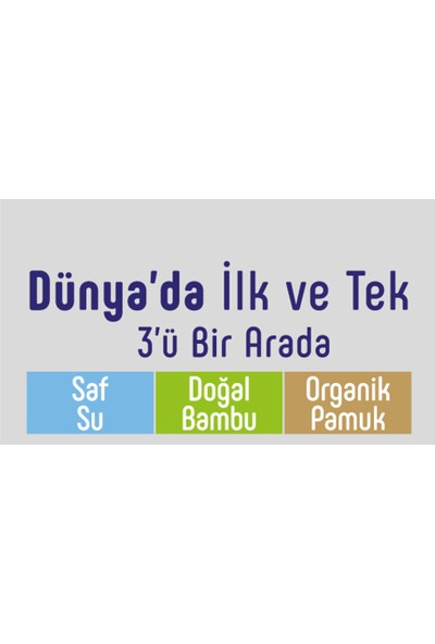Sleepy Natural Yenidoğan Islak Pamuklu Havlu 24 x 40'lı
