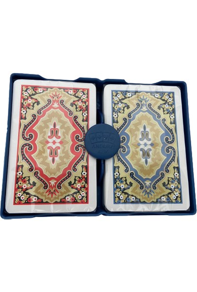 Angora Swiss Card Plastik Iskambil Kağıdı Çift Deste Kart