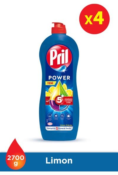 Pril Power Limon 675 gr Mix 4'lü