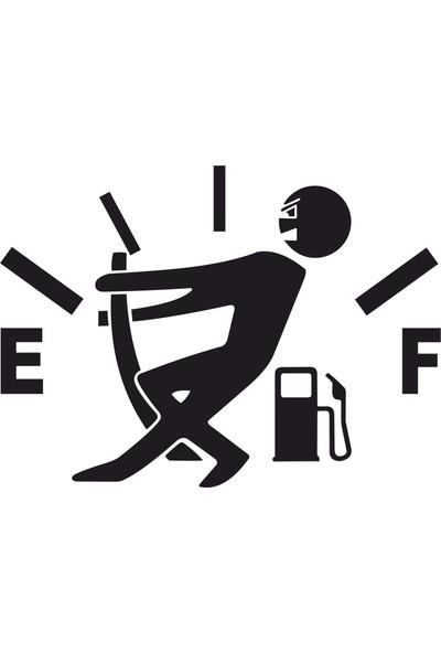 Quart Araba Yakıt Deposu Kapağı Sticker, Araba Sticker, Oto Sticker