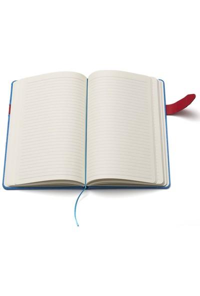 Papacasso Deri Ciltli 192 Sayfa Ajanda Mavi + Kalem