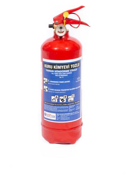 Vipfire 1 kg Kuru Kimyevi Tozlu Yangın Söndürme Cihazı