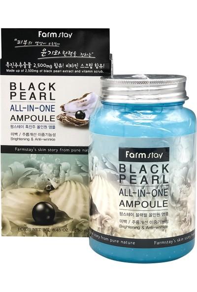 Farmstay Siyah Inci ve Bitki Özü , Sivilce ve Kırışıklık Karşıtı All-In-One Ampül Krem 250 ml