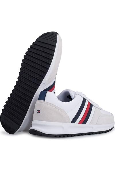 Tommy Hilfiger Ayakkabı Erkek Ayakkabı FM0FM02662 Ybs Beyaz 45