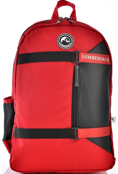 Lumberjack 9463 Okul Sırt Çantası Kırmızı