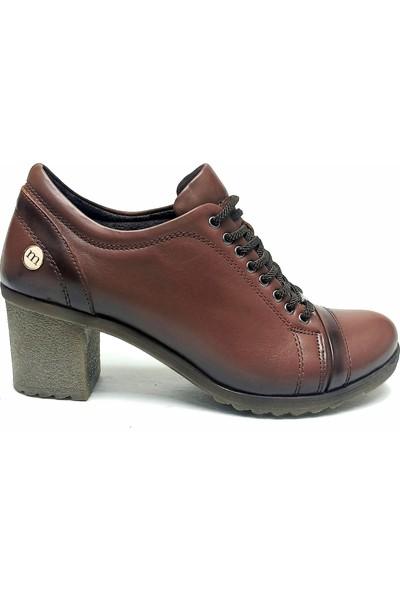 Mammamia 500 Deri Topuklu Kadın Ayakkabı