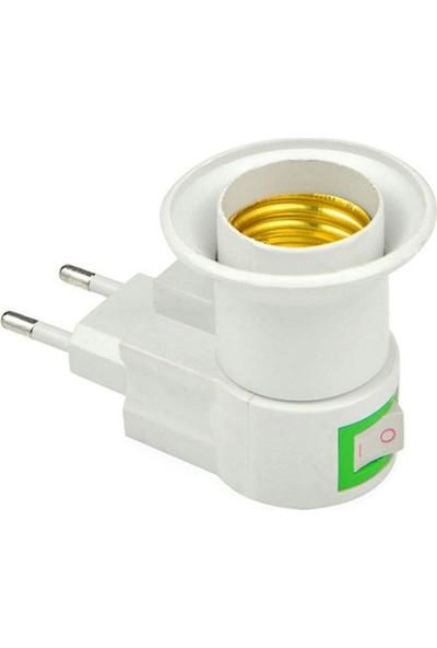 Buffer Fişli Aç-Kapa E27 Ampül Duyu