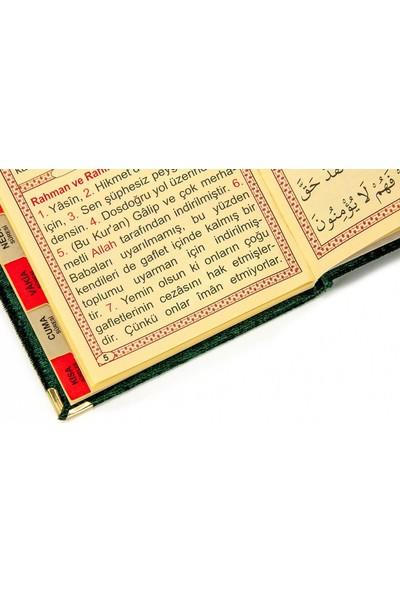 İhvan 10 Adet Kadife Kaplı Yasin Kitabı Tül Keseli İsme Özel Plakalı Tesbihli Yeşil