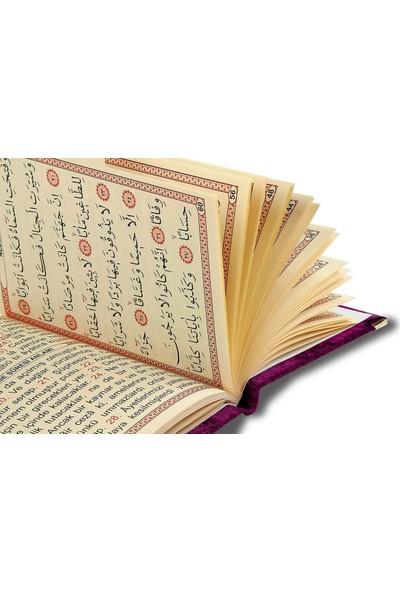 İhvan 10 Adet Özel Hediyelik Karton Kutulu - Özel Isimli Kadife Kaplı Yasin Kitabı - YEŞIL-1241