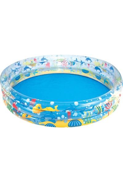 Bestway Şişme Çocuk Havuzu Okyanus Deseneli 183 x 33 cm 51005