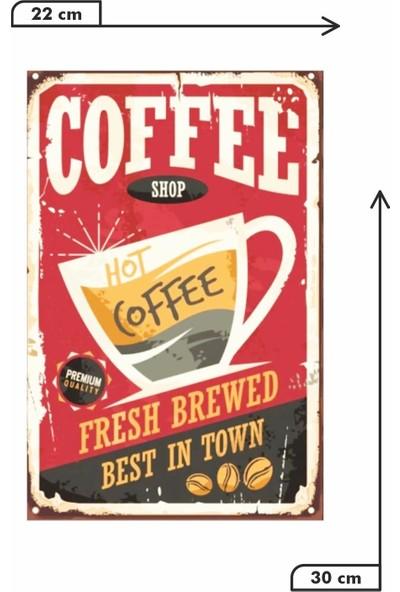 Dekolia Coffe Shop Retro Vintage Ahşap Mdf Tablo DRTR0042