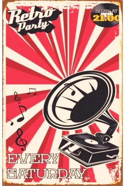 Dekolia Every Saturday Retro Vintage Ahşap Mdf Tablo