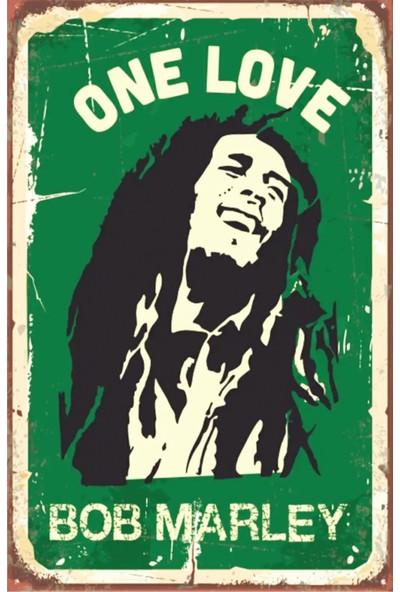Dekolia Bob Marley One Love Retro Vintage Ahşap Mdf Tablo DRTR0013