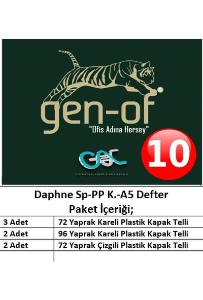 Gen-Of Daphne Spiralli Plastik Kapak A5 Defter Seti-10