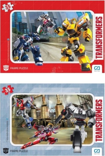 Ca Games Transformers 35 Parça Frame Puzzle 2'li Set