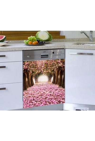 Jasmin Bulaşık Makinesi Sticker Pembe Yapraklar