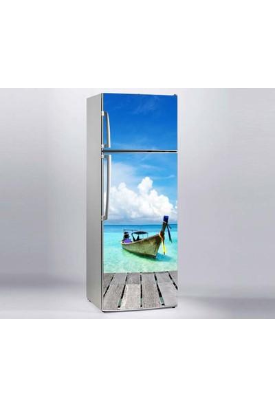 Jasmin Buzdolabı Sticker Tekne Deniz