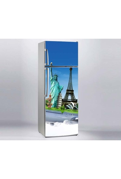 Jasmin Buzdolabı Sticker Amerika