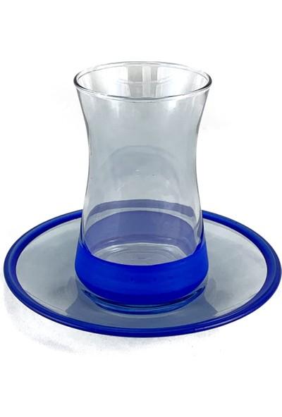 Altenta Mavi Çay Bardağı 6 Parça Takım