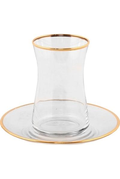 Altenta Altın Yaldızlı Çay Bardağı 6 Parça Takım