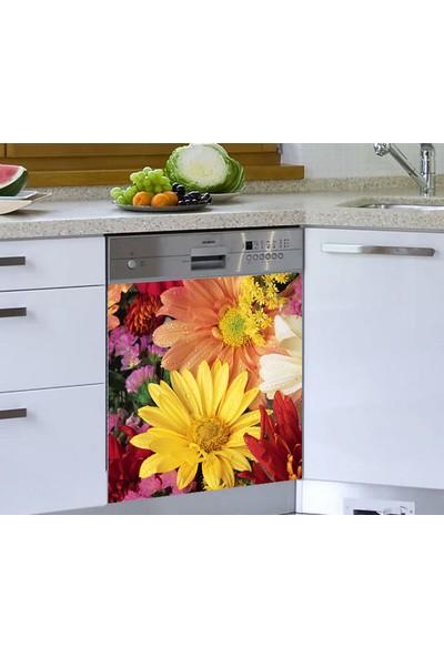 Jasmin Bulaşık Makinesi Sticker Çiçekler