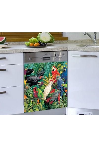 Jasmin Bulaşık Makinesi Sticker Papağanlar