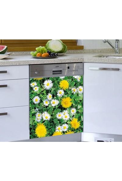 Jasmin Bulaşık Makinesi Sticker Sarı Beyaz Papatya