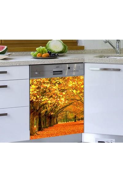 Jasmin Bulaşık Makinesi Sticker Sarı Ağaçlar
