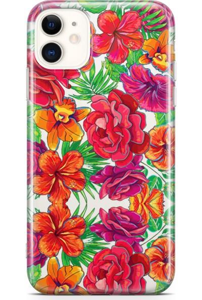 Lopard Apple iPhone 11 Kılıf Yeşil Bahar Arka Kapak Koruma Desenli Full Koruyucu