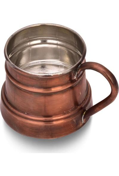 Zugazo Eskitme Bakır Kulplu Pisa Bardak 420 ml