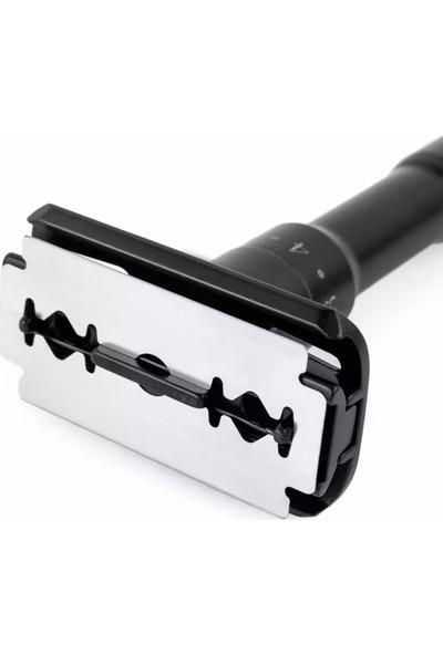 Qualis Shave Q7 Ayarlanabilir Tıraş Makinesi ve 5 Adet Jilet - Siyah