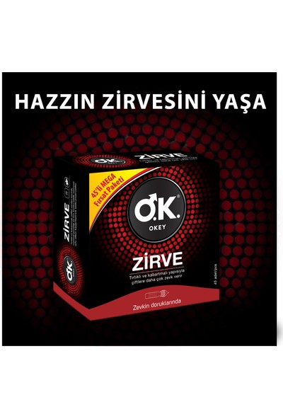Okey Zirve 45'li Prezervatif Avantaj Paketi