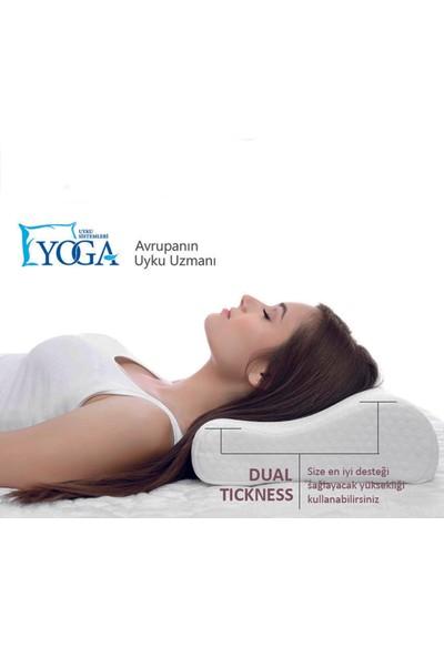 Yoga Visco Yastık Boyun Destekli Yastık Yoga Visco Akıllı Sünger Dolgulu
