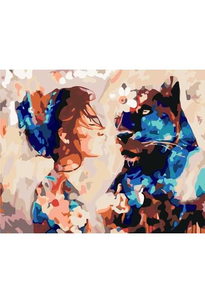 Plus Hobby SB21 Kadın ve Pars - Sayılarla Boyama Seti 40 x 50 cm