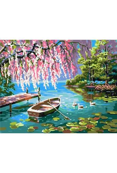 Plus Hobby SB43 Fantastik Göl - Sayılarla Boyama Seti 40 x 50 cm