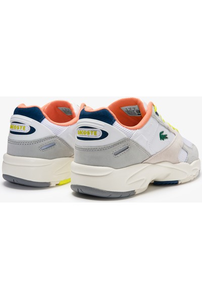 Lacoste Storm 96 Lo 0120 2 Sfa Kadın Açık Gri - Koyu Mavi Sneaker 740SFA0041.14P