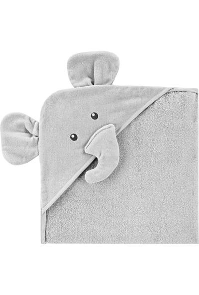 Carter's Fil Desenli Kapüşonlu Bebek Havlusu