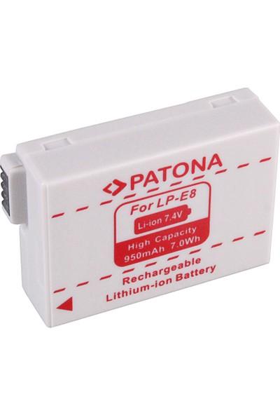Patona Canon Eos 550D Eos 600D Eos 550-D Eos 600-D Için Lp-E8 Batarya