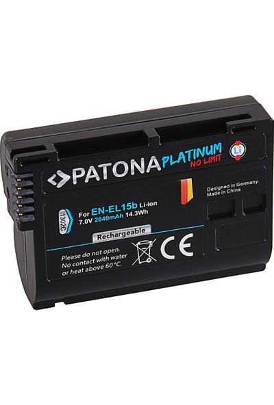 Patona Nikon D7000 D7100 D600 D610 D800 D800E D810 D850 Z7 V1 Için EN-EL15B Platinum Batarya